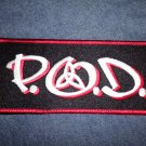 P.O.D. iron-on PATCH original logo payable on death pod