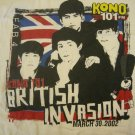 THE BEATLES SHIRT British Invasion kono texas radio 2002 PROMO XL