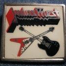 JUDAS PRIEST METAL PIN guitars badge VINTAGE
