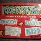 ROCK STARS TRADING CARDS 1979 KISS Queen Babys Village People bubble gum SEALED PACK