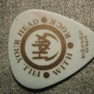 HELIX GUITAR PICK Fill Your Head With Rock tour blue 2008