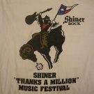 SHINER SHIRT robert earl keen joe ely ray wylie hubbard marcia ball 1994 texas L