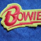 DAVID BOWIE iron-on PATCH red/yellow logo NEW