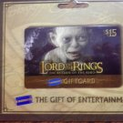 LORD OF THE RINGS GIFT CARD Gollum return king blockbuster 2004 lotr SALE