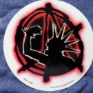 PUNK STICKER round anarchy mohawk NEW