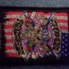 GUNS N ROSES sew-on PATCH skull & flag import NEW