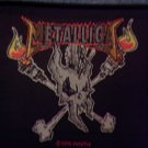 METALLICA sew-on PATCH skull & torches art IMPORT