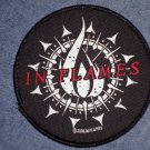 IN FLAMES sew-on PATCH circle logo round import NEW