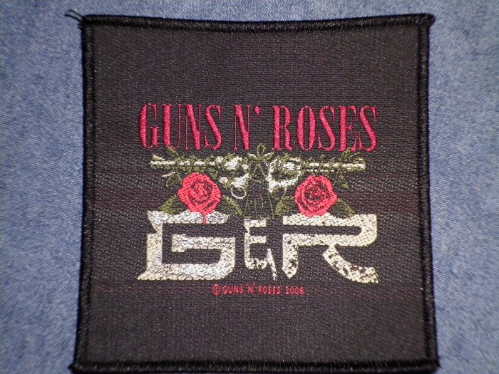 GUNS N ROSES sew-on PATCH twin pistols gnr logo import NEW