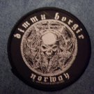 DIMMU BORGIR sew-on PATCH Norway metal round IMPORT