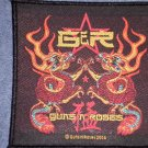 GUNS N ROSES sew-on PATCH twin dragons gnr logo import NEW