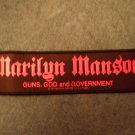 MARILYN MANSON sew-on PATCH Guns God And Government strip IMPORT