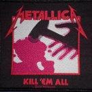 METALLICA sew-on PATCH Kill Em All album art import NEW