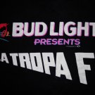 LA TROPA F SHIRT Live in Concert budweiser light promo tejano latin XL SALE