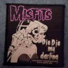 MISFITS sew-on PATCH Die Die My Darling danzig import NEW