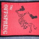 THE OFFSPRING sew-on PATCH punk skeleton IMPORT