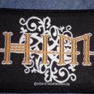 H.I.M. sew-on PATCH yellow/white logo him import NEW