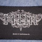 H.I.M. sew-on PATCH black/white logo him import NEW