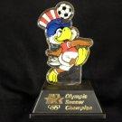 SAM THE EAGLE Olympic Soccer Champion stature figure 1980 VINTAGE