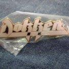 DOKKEN METAL PIN gold/white enamel badge VINTAGE