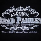 BRAD PAISLEY SHIRT 2006 Tour Alcohol country SMALL SALE