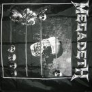 MEGADETH FABRIC BANNER skull abacus tapestry VINTAGE