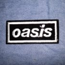 OASIS iron-on PATCH white logo VINTAGE