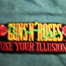 GUNS N ROSES iron-on PATCH Use Your Illusion logo gnr VINTAGE