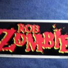 ROB ZOMBIE STICKER red logo white 1999 NEW