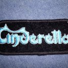 CINDERELLA iron-on PATCH blue logo VINTAGE