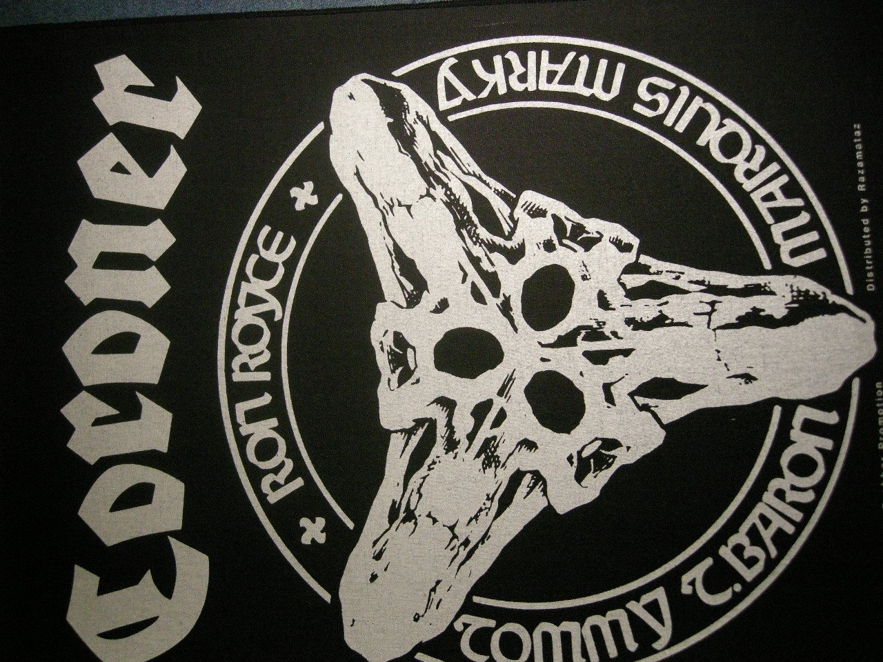 CORONER BACKPATCH band skull logo patch IMPORT