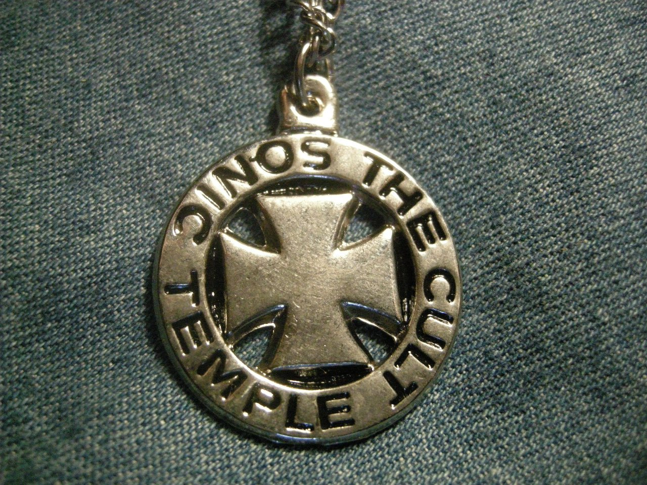 THE CULT NECKLACE Sonic Temple logo VINTAGE