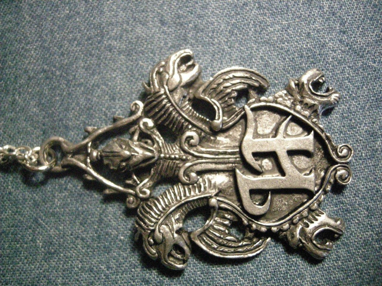 HAMMERFALL METAL NECKLACE dragon crest logo VINTAGE