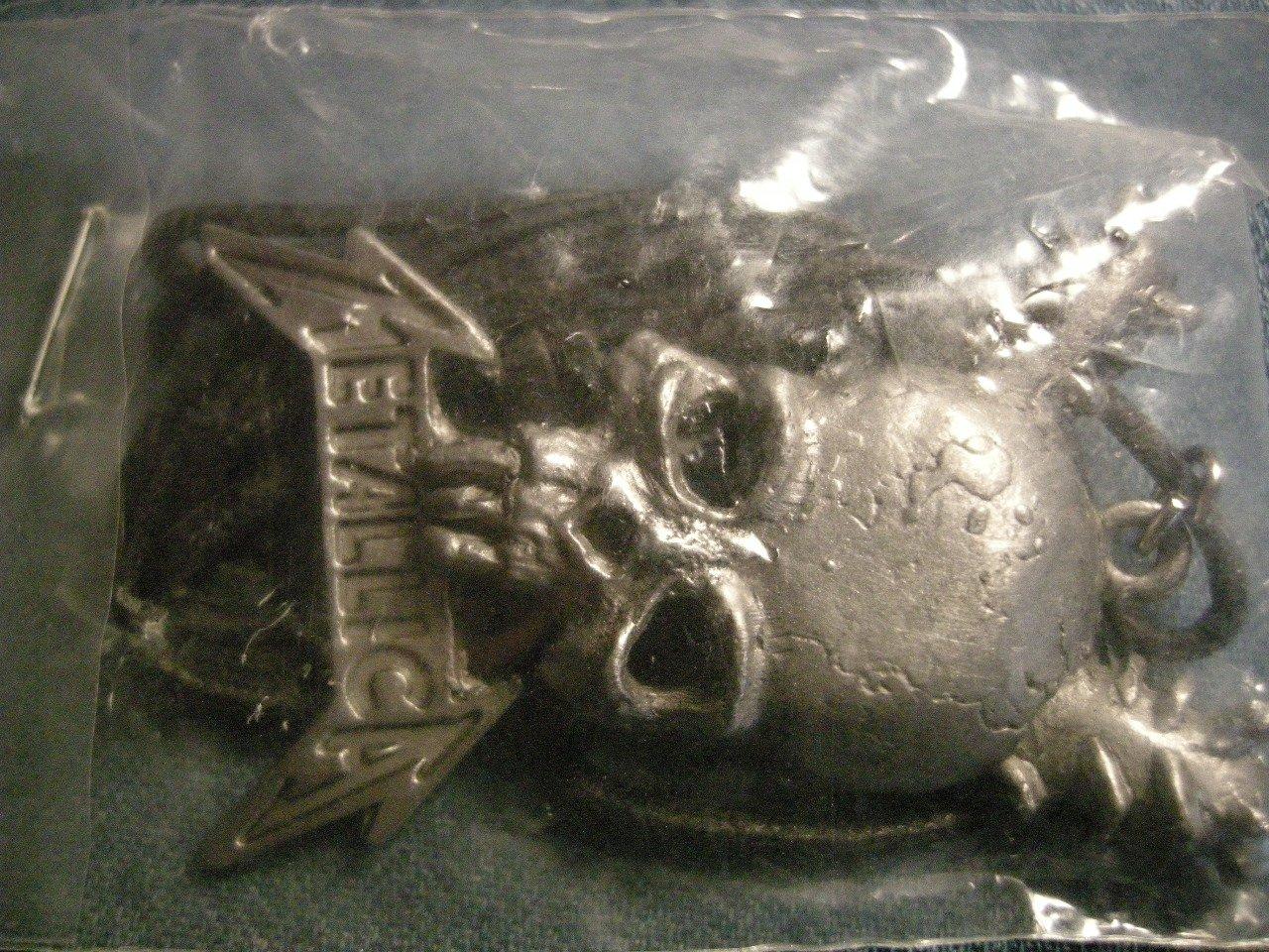 METALLICA METAL NECKLACE Damage Inc skull VINTAGE 80s