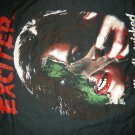 EXCITER SHIRT Unveiling The Wicked Tour Europe 86 small VINTAGE