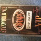 STYX BACKSTAGE PASS Styxworld 2002 enuff z'nuff chip vip laminate bsp
