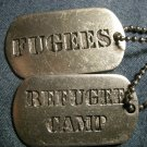 THE FUGEES NECKLACE Refugee Camp dog tags alchemy import HTF