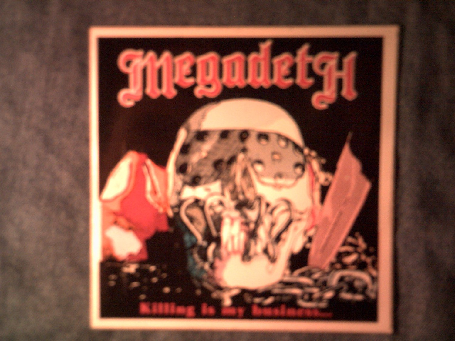 MEGADETH STICKER Kiling Is My Business and Business Is Good VINTAGE