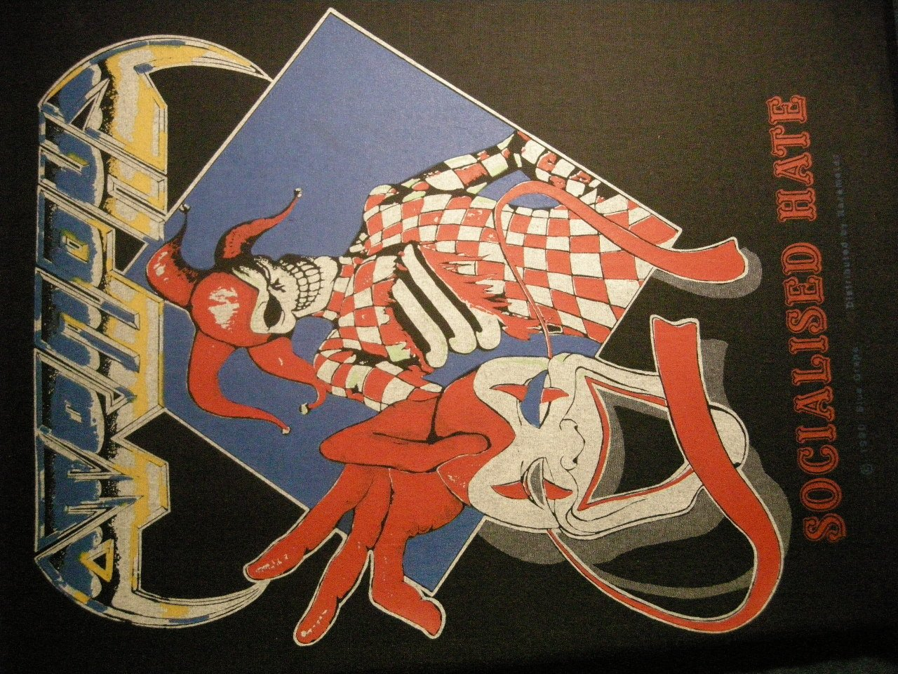 ATROPHY BACKPATCH Socialized Hate clown jester patch IMPORT