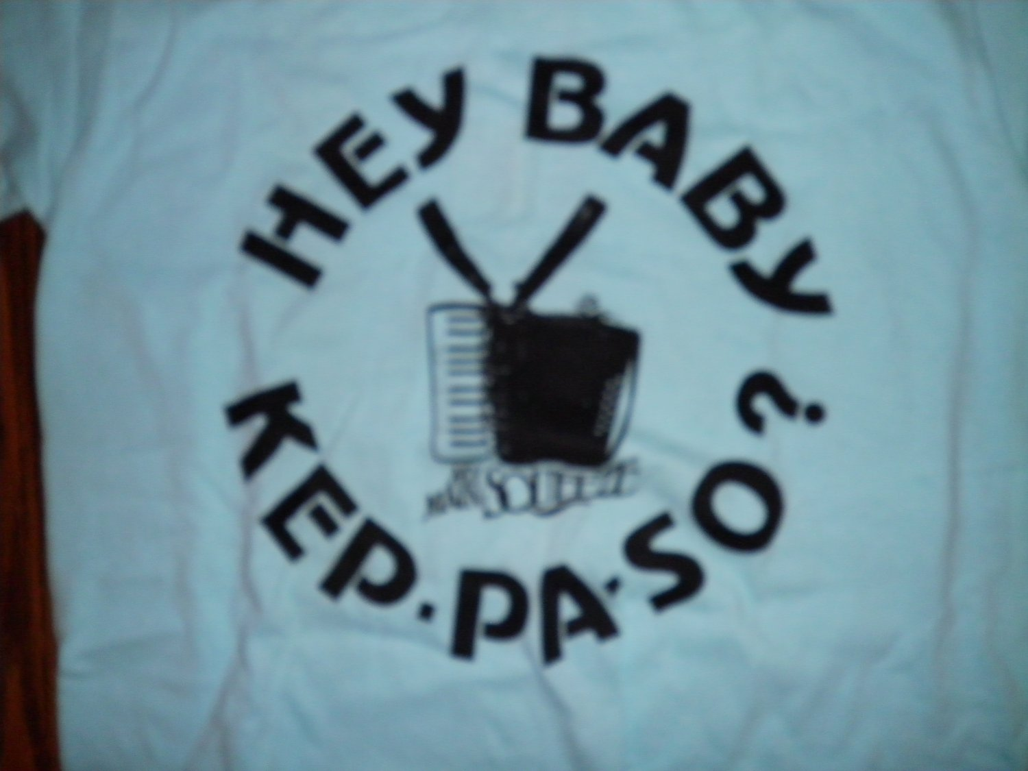 AUGIE MEYERS SHIRT My Main Squeeze hey baby kep-pa-so texas tornados tejano small VINTAGE