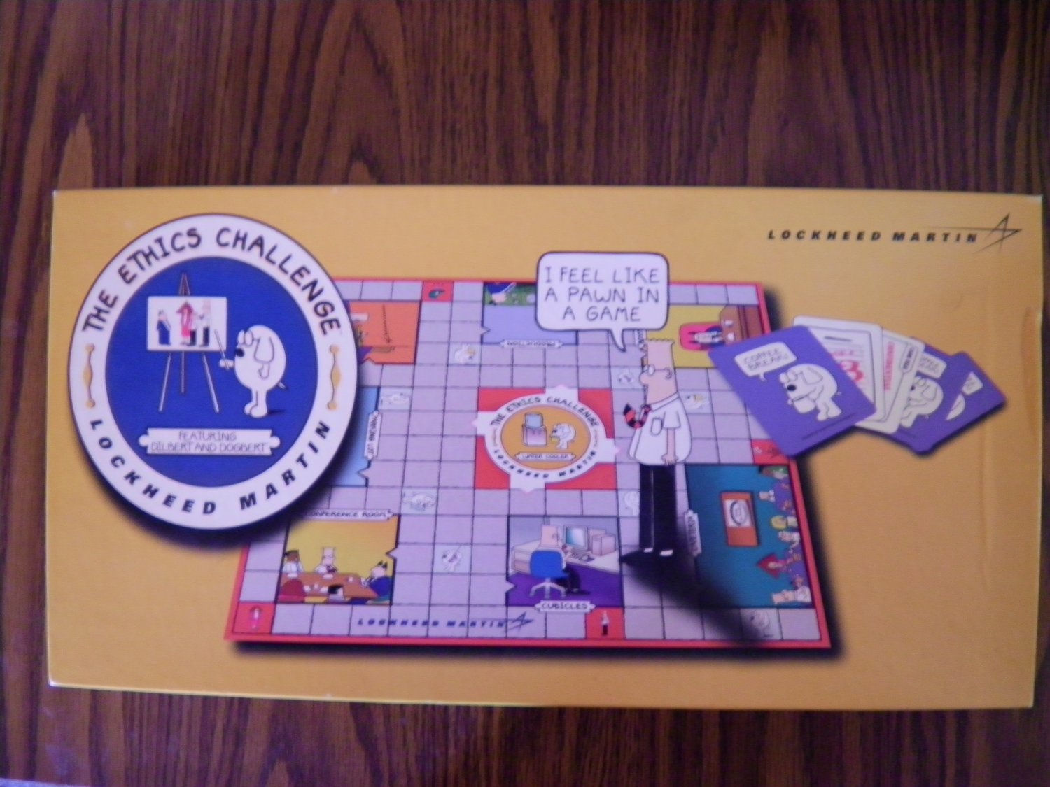 DILBERT BOARD GAME The Ethics Challenge lockheed martin boardgame RARE PROMO