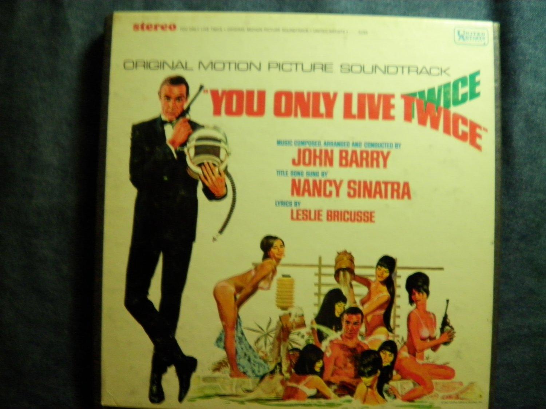 JAMES BOND 4 TRACK you only live twice soundtrack nancy sinatra reel to ampex 007 VINTAGE