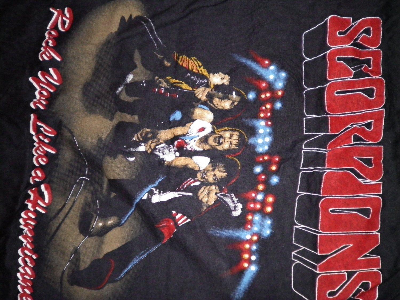 SCORPIONS SHIRT Blackout Tour 1984 LA Forum rock you like a hurricane TANK M VINTAGE