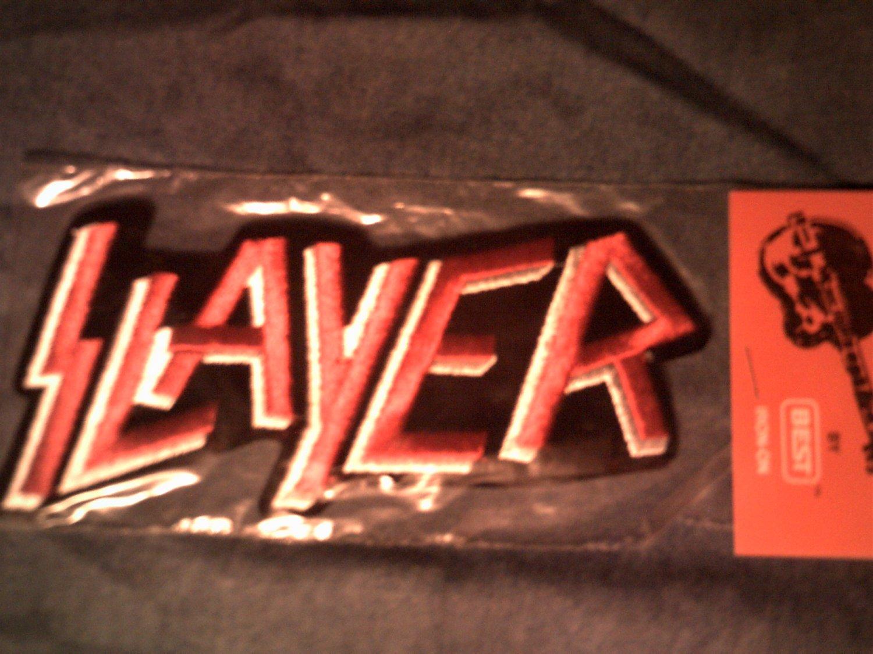 SLAYER iron-on PATCH classic logo VINTAGE