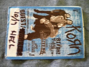 KORN BACKSTAGE PASS Hellyeah five finger death punch droid guest bsp