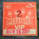 METALLICA BACKSTAGE PASS 2004 madly in anger with the word tour vip bsp
