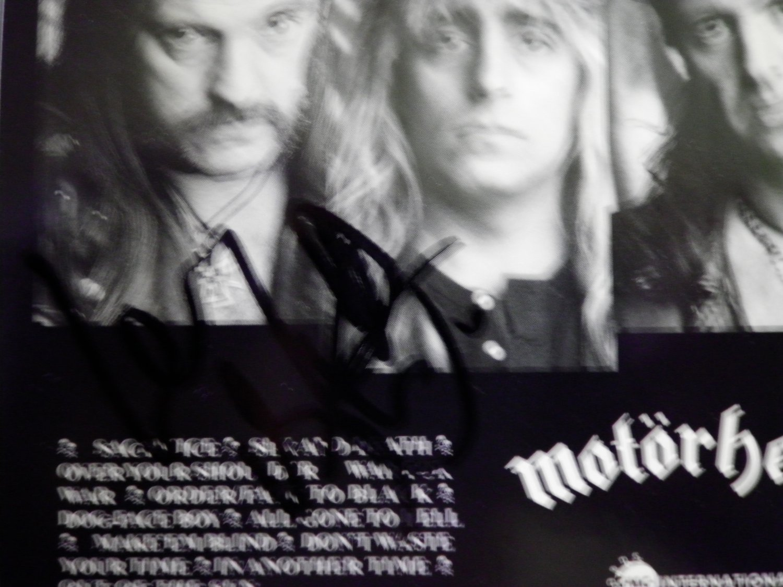 CD MOTORHEAD Sacrifice Lemmy Kilmister AUTOGRAPHED