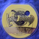 LYNYRD SKYNYRD BACKSTAGE PASS Europe Tour 1992 snake yellow bsp laminate