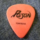 POISON GUITAR PICK Bret Michaels orange