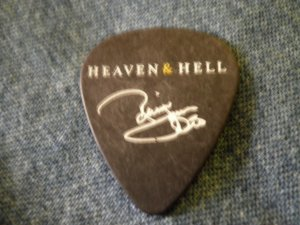 RONNIE JAMES DIO GUITAR PICK Heaven & Hell black sabbath